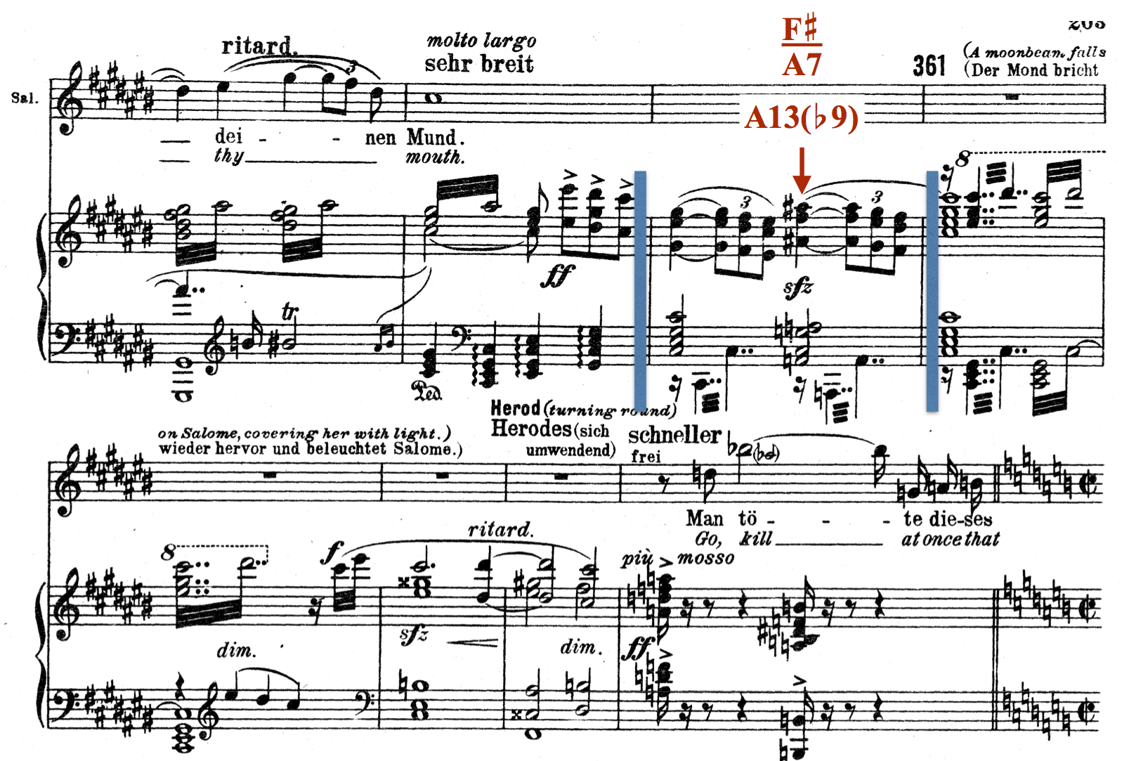 Upper-structure chord in Richard Strauss, Salome.